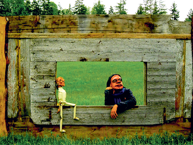 The North Barn Theatre Collective's drive-in puppet theatre melds stories of the land and humanity. - SUBMITTED