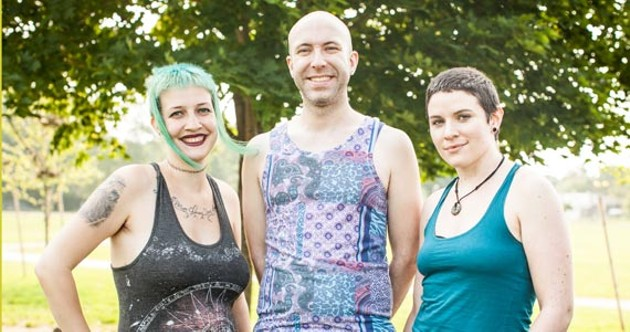 Ayla McKay, Mike Morse and Alix Todd of the Bi, Pan and Multisexual Connection. - MEGHAN TANSEY WHITTON