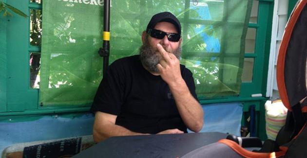Jim Meade: Your favourite neighbourhood bouncer needs your help. - BECKY DAVENPORT
