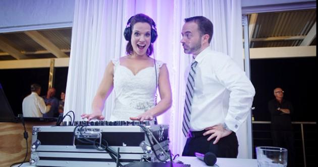 I now pronounce you bride and DJ. - JACKI BRUNIQUEL