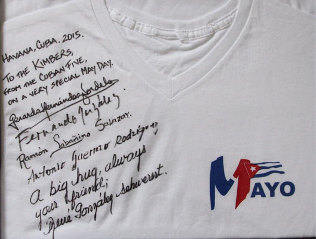 Stephen Kimber's favourite t-shirt he can never wash, a May Day gift.