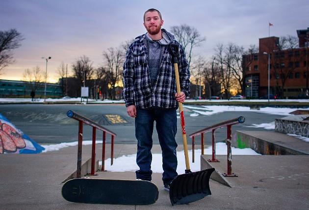 Carpenter Craig McNally has some gnarly plans for Halifax. - SAM KEAN