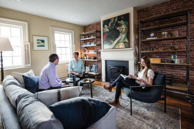 This exposed brick wall was one of the major selling features for Monique and Kent - RILEY SMITH