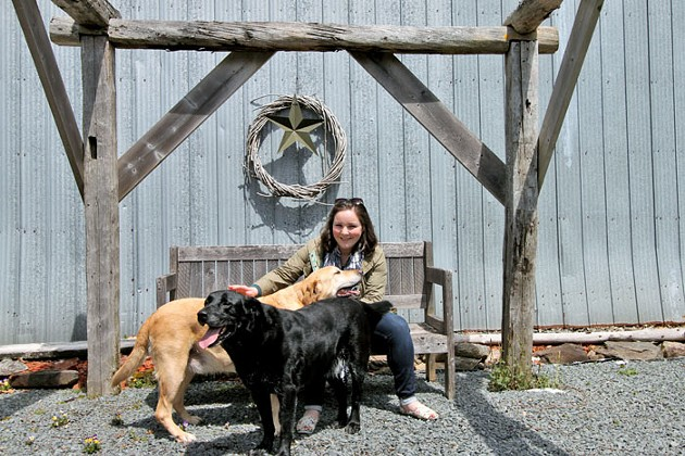 Meander River's Campbell Bailey and her pups - MELISSA BUOTE