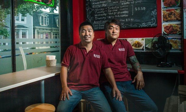 Friends Sang Ho Back and JoungMin Kim are the brains behind tiny culinary gem Backoos Korean Food. - LENNY MULLINS