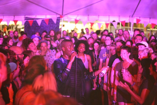 Cakes Da Killa, a much anticipated rap show, was a highlight for many. The crowd went wild as he busted rhymes inches from fan's faces.