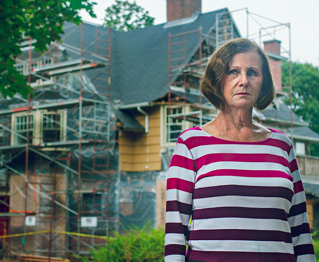 Peggy Cunningham has been fighting to keep houses standing on Young Avenue. - LENNY MULLINS
