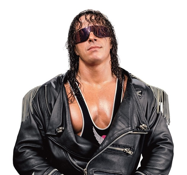 "Bret ""The Hitman"" Hart, a living example of using his powers for good. - VIA WWE SITE"