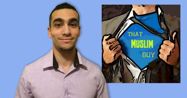 Mohamed El-Attar, 22, creates short, satirical videos in the hopes of countering ignorance and stereotypes about Islam. - COURTESY THE MUSLIM GUY