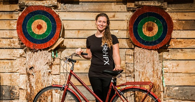 Kelsey Lane, executive director of the Halifax Cycling Coalition. - KRISTA COMEAU