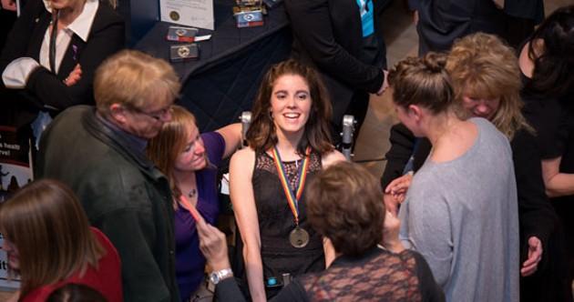 Laura Osborne won the Lion of Courage Award at our 2015 Awards Gala. - GEORGE INGLIS