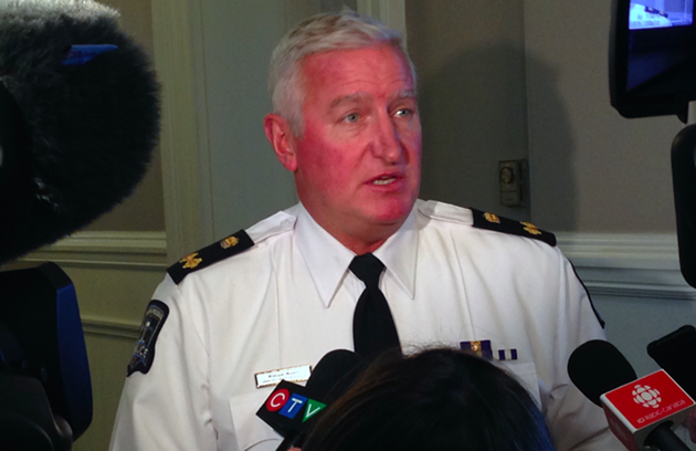 Halifax Regional Police deputy chief Bill Moore, speaking to reporters inside City Hall on Monday. - THE COAST