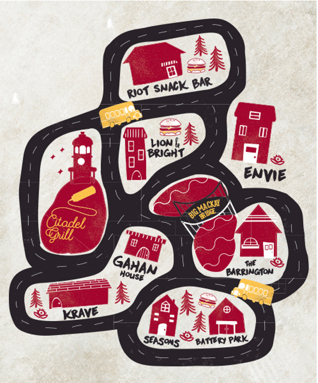 Meat the Burger Week's burger bus route (see  5)!