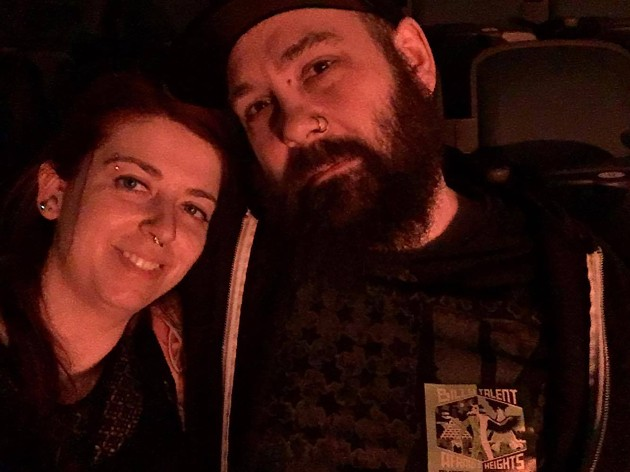 Chandrae and Jason now, six years into a Billy Talent-fueled marriage