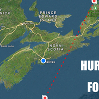 Hurricane Teddy bears down on Nova Scotia