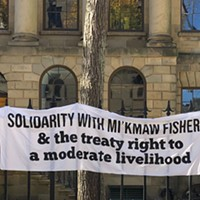 Rally Sunday in Halifax in support of Indigenous fisherfolks