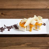 White Chocolate and Mango Crepe Torte