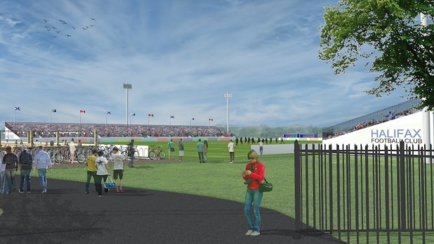 What the completed stadium is supposed to look like. - VIA SPORTS AND ENTERTAINMENT ATLANTIC