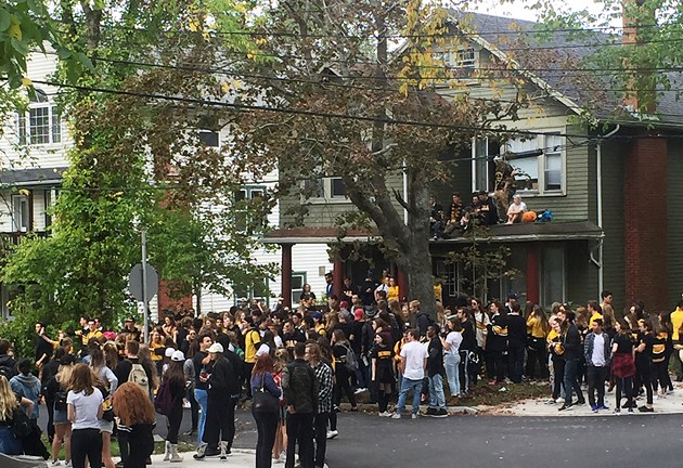 Just another Saturday afternoon on Jennings Street. - SUBMITTED