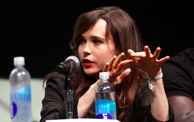 Ellen Page speaking at the 2013 San Diego Comic Con for X-Men: Days of Future Past. - GAGE SKIDMORE, VIA WIKICOMMONS