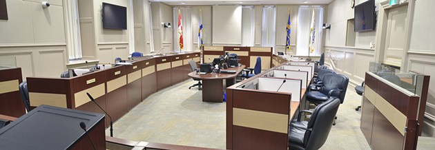 Council chambers, pictured during one of its brief quiet moments. - VIA HRM