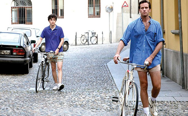 Timothée Chalamet and Armie Hammer in Call Me By Your Name.