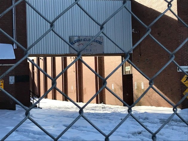 Fences are up around the decaying Bloomfield Centre, pictured here from Agricola Street. - THE COAST