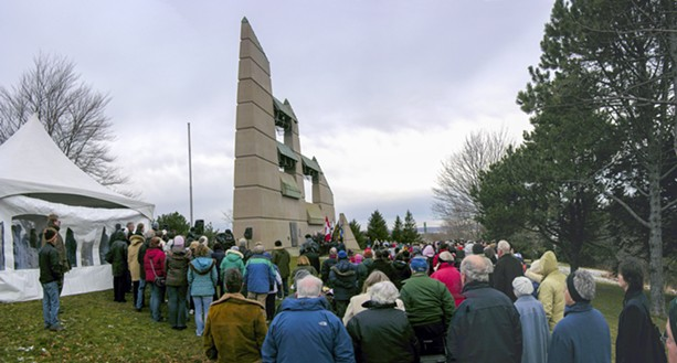 A commemoration of the Halifax Explosion at Fort Needham Memorial Park. - VIA SHAPEYOURCITY