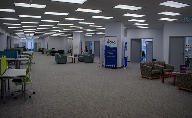 """Volta has just started moving into its new digs, but the vibe is already more """"campus"""" than """"1980s phone company."""" - SUBMITTED"""