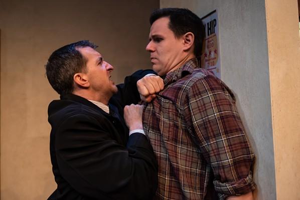 Schwager and Hauk get intense in Drunken God. - STOO METZ