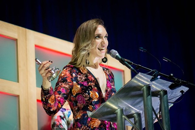 Kinley Dowling picks up ECMA one of two at the Thursday awards show. - DAVID BAILLEUIL