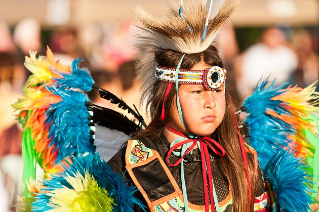 A young dancer participates in the Mawio'mi 2011 International Pow wow held on the Halifax Common. - VIA ISTOCK