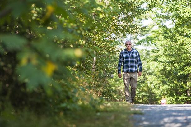 Simmons on a stroll through Point Pleasant. - MEGHAN TANSEY WHITTON