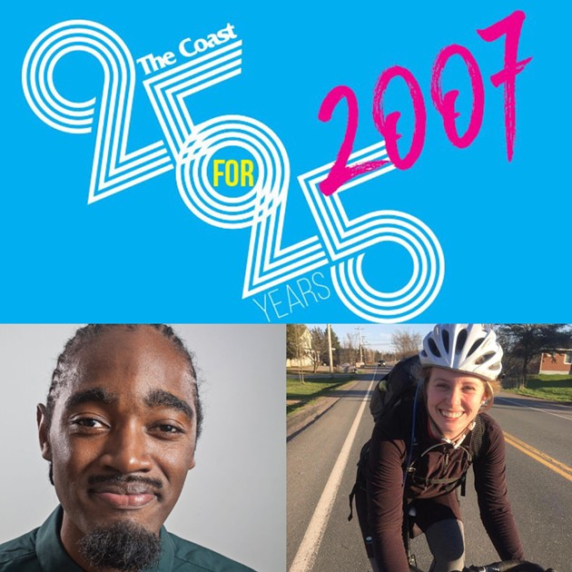 Councillor Lindell Smith and Halifax Cycling Coalition executive director Kelsey Lane. - THE COAST