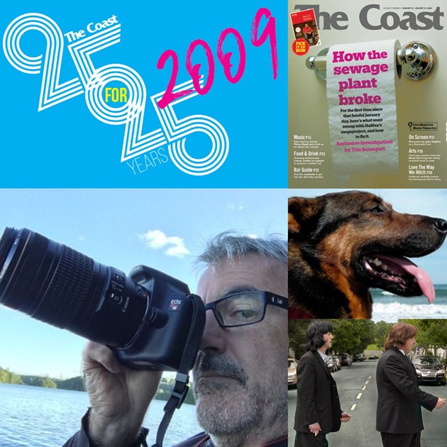 Clockwise from top-right: The Coast's sewage plant cover story, Brindi, Darrell Dexter, Peter Kelly, Tim Bousquet.