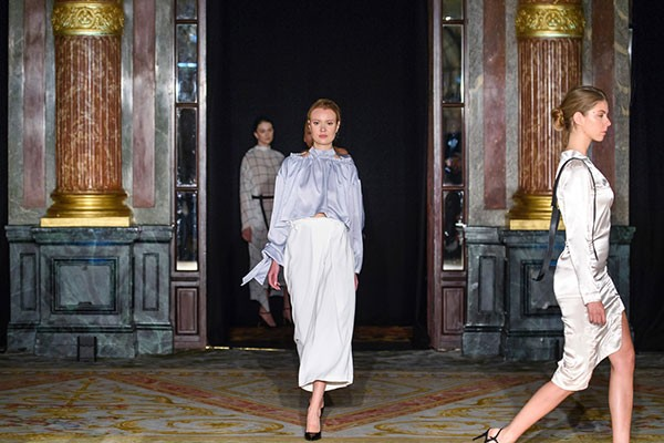 On the runway in Paris earlier this month—nbd