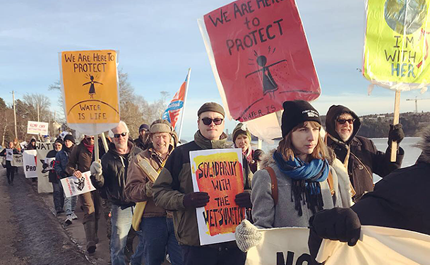 Marchers take to the streets on Monday in solidarity with Wet'suwet'en. Author Sakura Saunders (not pictured) is an Indigenous solidarity activist who has been a supporter of the Unist'ot'en camp since 2010. - SADIE BEATON