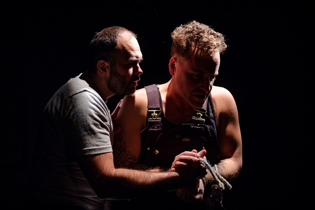 Merritt acting nominees Sebastién Labelle (supporting) and Stewart Legere (lead) in Tom at the Farm. - WORKSHIRT OPERA