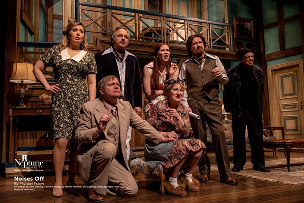 The cast of Noises Off. - STOO METZ