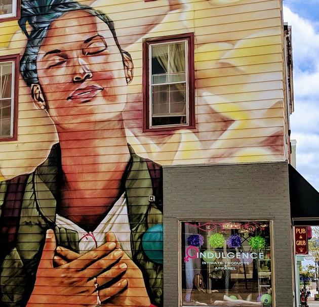 Indulgence's colourful corner on Portland Street - VIA FACEBOOK