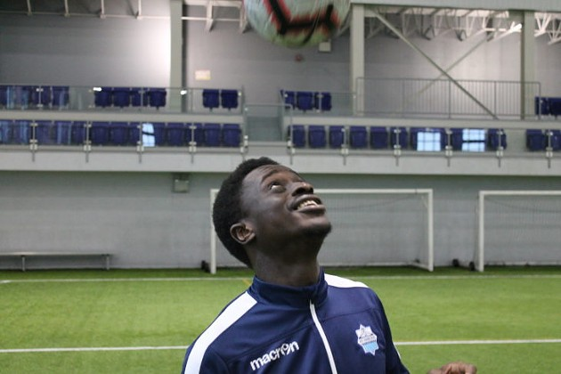 Halifax midfielder Mohamed Kourouma wants the Wanderers' fortunes looking up at Saturday's first-ever home game. - VIA HFX WANDERERS SITE