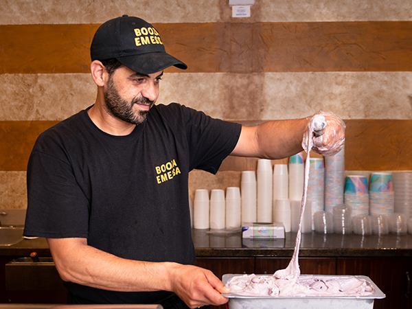 Mastic is the trick that makes the Syrian ice cream at Booza Emessa so unusually creamy, Aljokhadar.says. - IAN SELIG