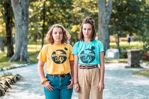 Willa Fisher and Julia Sampson are organizers of Halifax's Fridays for Future strike on September 27. - DANIEL DOMINIC