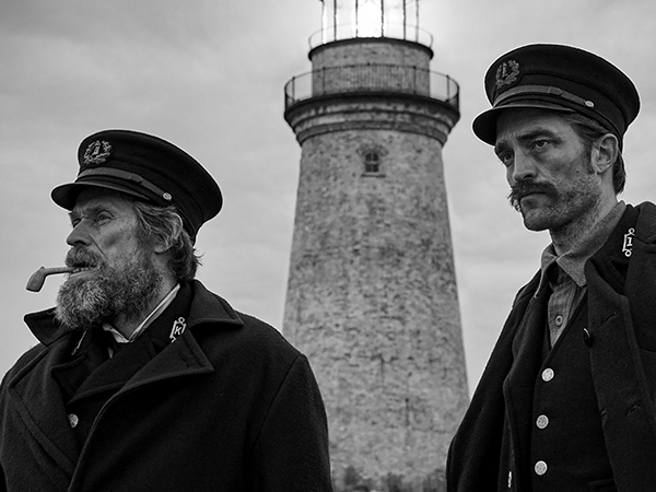 Robert Pattinson and Willem Dafoe star in Yarmouth-shot film The Lighthouse. - SUBMITTED