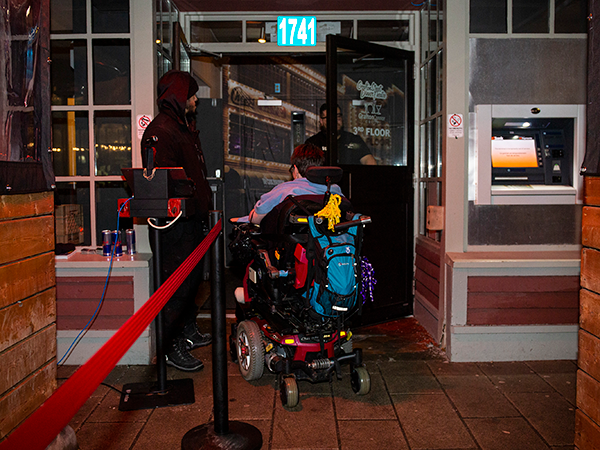 """In downtown Halifax there are about 20 places you can go dancing.  The Coast's research found that only one of those places is no-strings-attached-no-need-for-a-manager accessible. Five spots are not accessible at all, and at five spots there's an accessible entrance but no accessible washrooms.  The Carleton on Argyle Street has a hefty ramp that waits inside the front doors—which are a step up from street level. A sign on the wooden planters that mark the entrance has a phone number to call if you need an accessible entrance. Someone working the door will put out the ramp and unlock the accessible potential of the venue—accessible washrooms, an accessible dance floor and no stairs to get up to the bar to order a drink. Carleton owner Karen Spaulding says making the changes in 2018 was very challenging, """"but very worthwhile."""" When it comes to making spaces accessible, owners have to deal with landlords, contractors, the city, old buildings and historic property rules and—at the end of the day—a large amount of money. """"It is a lot of trade-offs and conversations and money. But one cannot deny the importance of having the conversation and working towards full accessibility."""""""