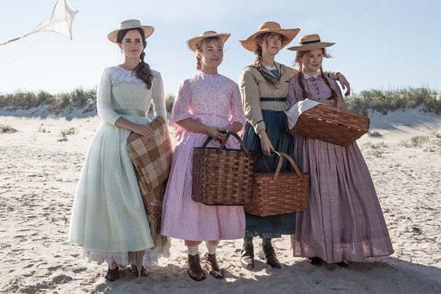 The all-star sisterhood in Little Women (from left, Emma Watson, Florence Pugh, Saoirse Ronan and Eliza Scanlen) play and perform within Gerwig's rich world with equal parts realism and whimsy. - IMBD.COM SCREENSHOT