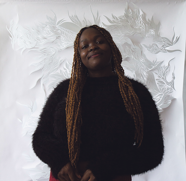 Paper cutting has long been meditational for Francesca Ekwuyasi. - SUBMITTED