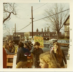 A rally in Massachusetts for the first Earth Day in 1970. - PHILLIPS ACADEMY, ANDOVER