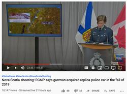 RCMP corporal Jennifer Clarke on Global's webcast. - VIA YOUTUBE