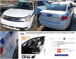 An HRP car up for auction, with decals partly removed, in March 2020. - AUCTION ADVANTAGE